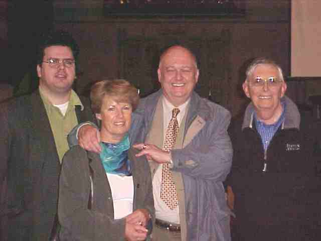 Gerald Williams, Revd. Leigh Richardson with the Christian writer Gordon Bailey and his wife